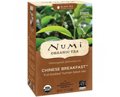 Numi Organic Tea Chinese Breakfast Black Tea 18 Tea Bags
