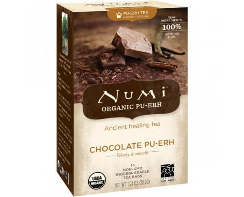 Numi Organic Tea Chocolate Puerh 16 Tea Bags