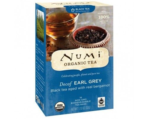 Numi Organic Tea Decaf Earl Grey 16 Tea Bags