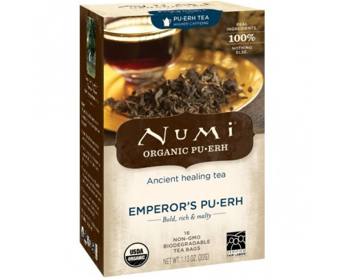 Numi Organic Tea Emperor's Puerh 16 Tea Bags