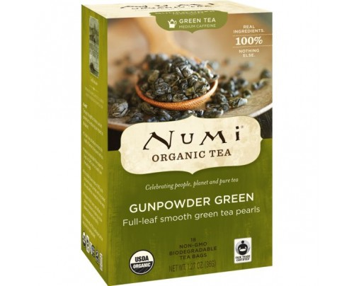 Numi Organic Tea Gunpowder Green Tea 18 Tea Bags