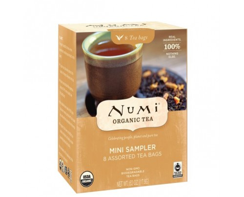 Numi Organic Tea Inspired Moments Traditional Blends Sampler 8 Tea Bags