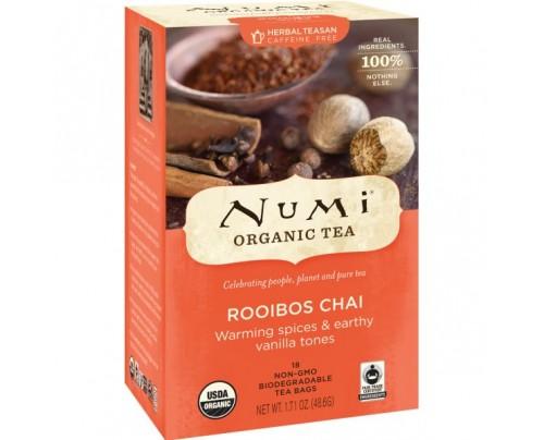 Numi Organic Tea Rooibos Chai Tea 18 Tea Bags