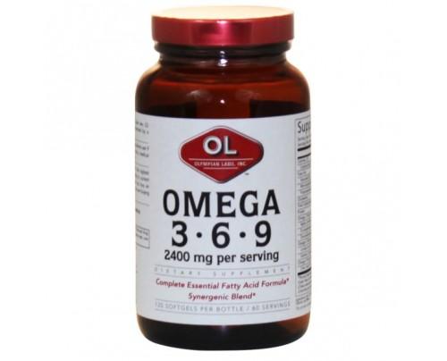 Olympian Labs Omega 3-6-9 2,400mg 120 Softgels