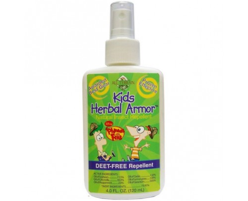 All Terrain Phineas and Ferb Kids Herbal Armor Insect Repellent Spray 4oz.