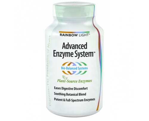Rainbow Light Advanced Enzyme System 180 Vegetarian Capsules