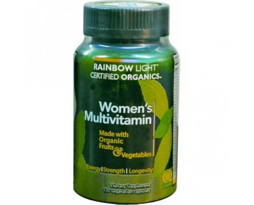 Rainbow Light Women's Certified Organics Multivitamin 120 Capsules