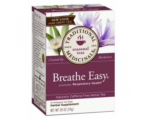 Traditional Medicinals Breathe Easy Tea 88% Organic 16 Teabags
