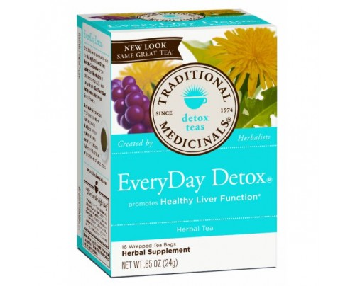 Traditional Medicinals EveryDay Detox Tea 85% Organic 16 Teabags