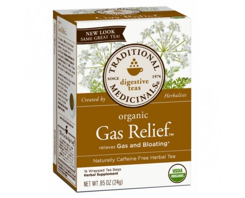 Traditional Medicinals Organic Gas Relief Tea 16 Teabags