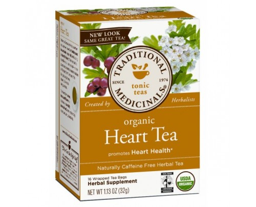 Traditional Medicinals Organic Heart Tea with Hawthorn 16 Teabags