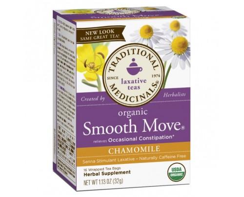 Traditional Medicinals Organic Smooth Move Chamomile Tea 16 Teabags