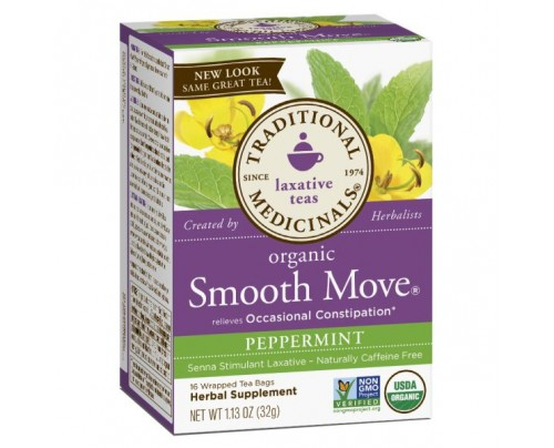 Traditional Medicinals Organic Smooth Move Peppermint Tea 16 Teabags