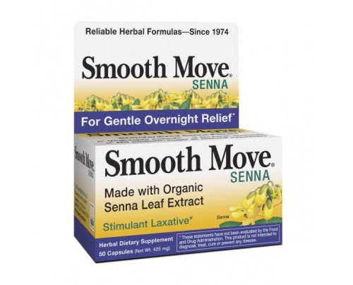Traditional Medicinals Organic Smooth Move Senna Leaf Extract 50 Capsules