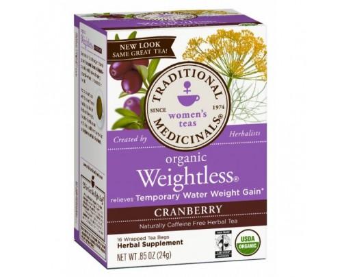 Traditional Medicinals Organic Weightless Cranberry Tea 16 Teabags