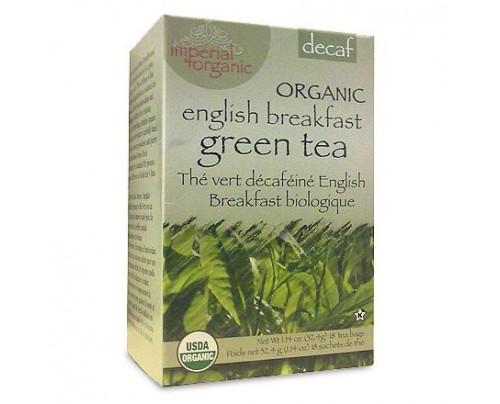 Uncle Lee's Imperial Organic English Breakfast Decaffeinated Green Tea 18 Tea Bags