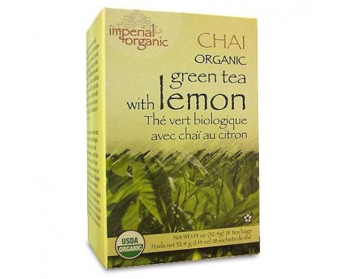 Uncle Lee's Imperial Organic Green Tea with Lemon Chai Tea 18 Tea Bags