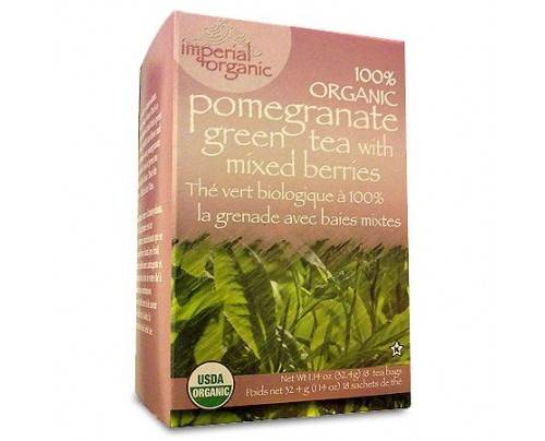 Uncle Lee's Imperial Organic Pomegranate Green Tea with Mixed Berries 18 Tea Bags