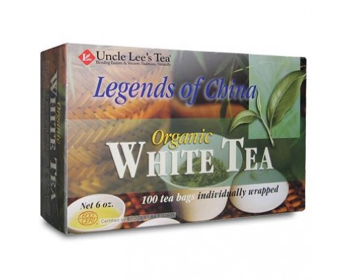 Uncle Lee's Legends Of China Organic White Tea 100 Tea Bags