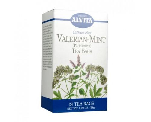 Alvita Teas Valerian Mint Tea 24 Teabags