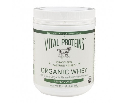 Vital Proteins Organic Whey Grass-Fed Pasture-Raised Unflavored 18 oz.