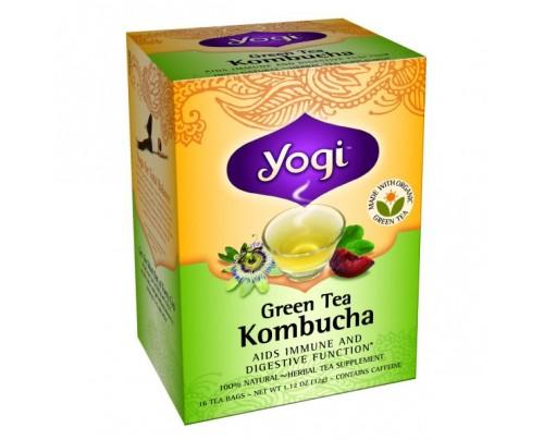 Yogi Tea Green Tea Kombucha 16 Tea Bags