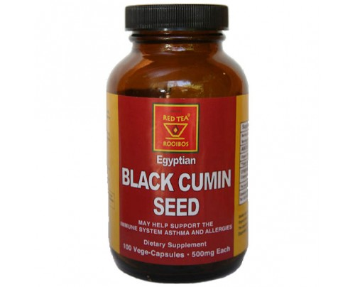 African Red Tea Imports Organic Black Cumin Seed 500 mg 100 Capsules