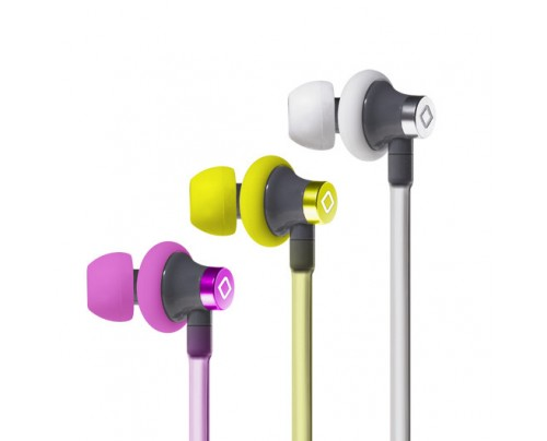 Aircom Audio A3 Active Hands-Free Headset Cell Phone Air Tube Stereo Earbuds Yellow