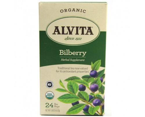 Alvita Teas Organic Bilberry Tea 24 Tea Bags