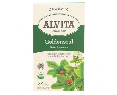 Alvita Teas Goldenseal Organic Herbal Tea 24 Tea Bags