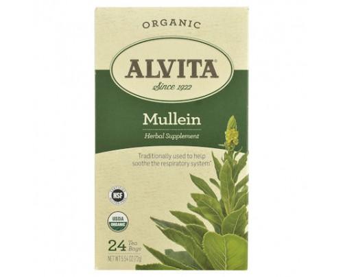 Alvita Teas Organic Mullein Leaf Tea 24 Tea Bags