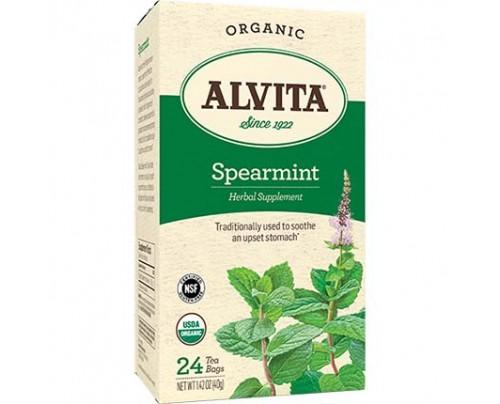Alvita Teas Spearmint Leaf Organic Tea 24 Tea Bags