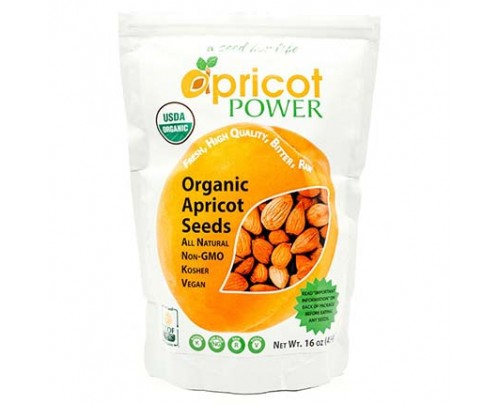 Apricot Power Organic Raw Bitter Apricot Kernels Seeds Vitamin B-17 Rich 16 oz.