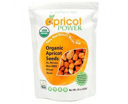 Apricot Power Organic Raw Bitter Apricot Kernels Vitamin B-17 Rich 8 oz.