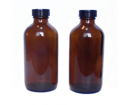 Nature's Alternatives Storage Bottles 2 Glass Amber (8 fl. oz.) + 2 Caps