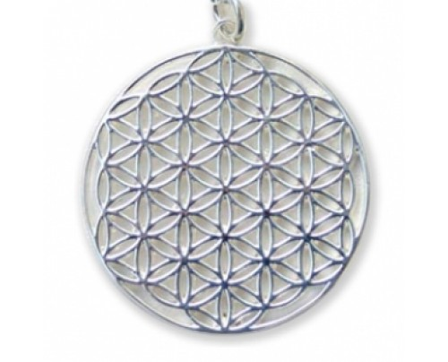 Earth Solutions Flower of Life Pendant Sterling Silver 30 mm