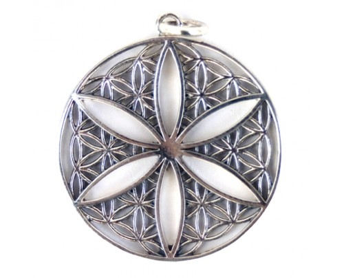 Earth Solutions Flower of Life Open Pendant, Sterling Silver