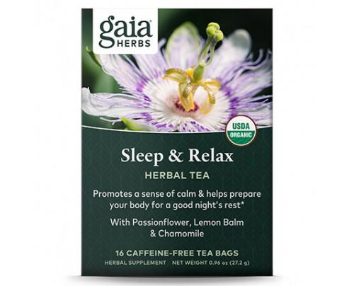 Gaia Herbs Sleep & Relax Herbal Herbal Tea 16 Tea Bags