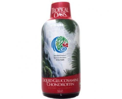 Tropical Oasis Glucosamine Chondroitin MSM Vitamin C 16oz.
