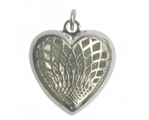 Earth Solutions Aromatherapy Jewelry Heart Pendant, Sterling Silver