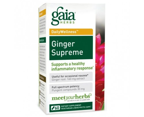 Gaia Herbs Ginger Supreme with Turmeric Phyto-Caps Vegetarian Capsules