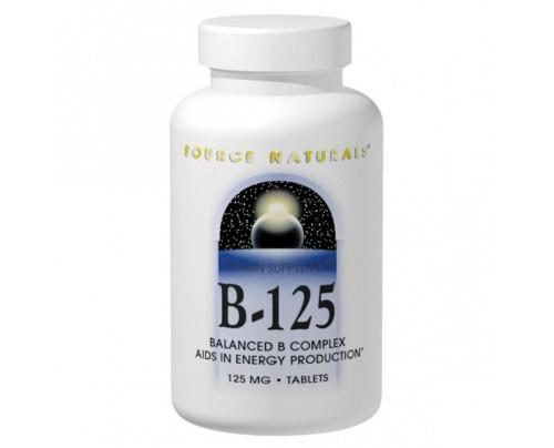 Source Naturals Vitamin B-125 125 mg Tablets