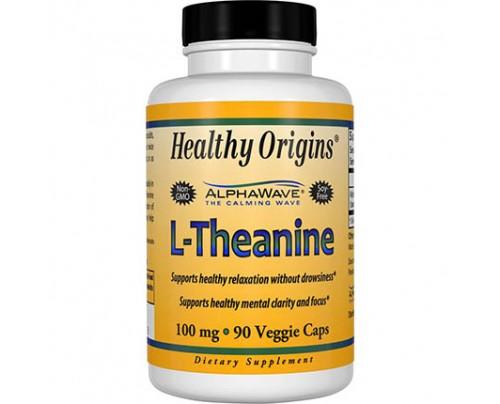 Healthy Origins L-Theanine 100 mg 90 Vegetarian Capsules