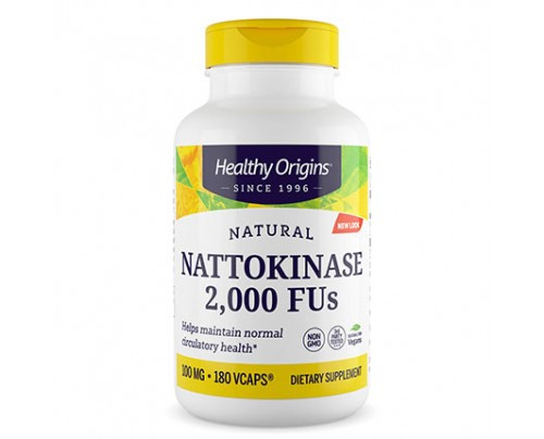 Healthy Origins Nattokinase 2,000 FU's 100 mg 180 VCaps