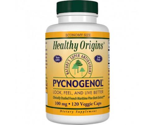 Healthy Origins Pycnogenol 100 mg 120 Vegetarian Capsules