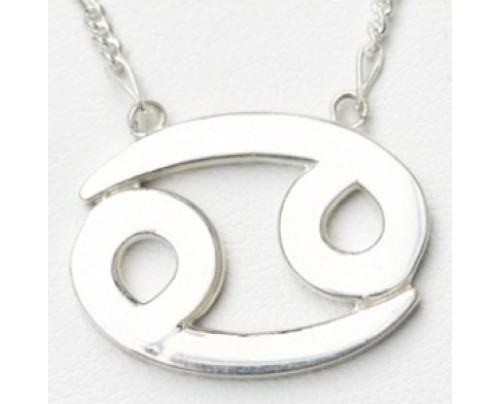 Earth Solutions Cancer Pendant, Sterling Silver