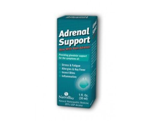 NatraBio Adrenal Support Unflavored Homeopathic Liquid 1 fl. oz.
