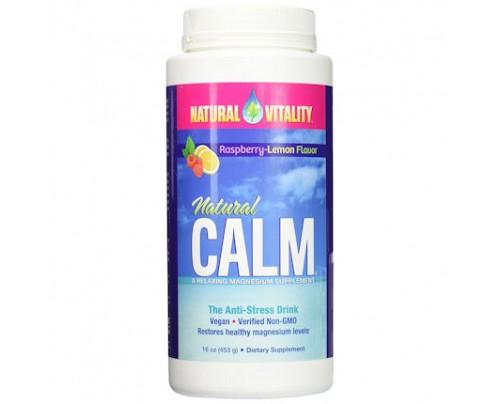 Natural Vitality Natural Calm Anti-Stress Drink Raspberry Lemon 16 oz. (453 g)