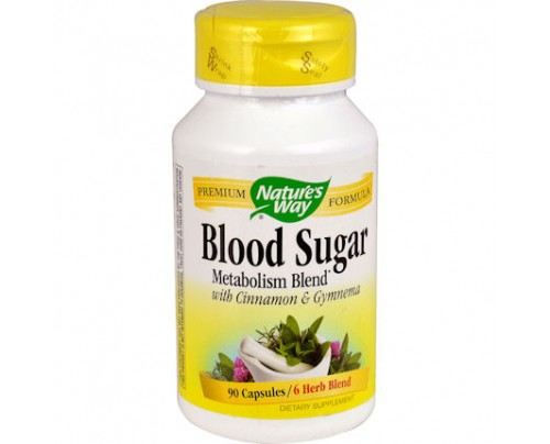 Nature's Way Blood Sugar Metabolism Blend with Cinnamon & Gymnema 90 Capsules