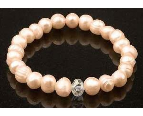 Zorbitz Keilani Pink Freshwater Pearls Bracelet